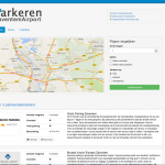 Screenshot van homepage Parking Bij Zaventem