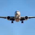 Foto van vliegtuig die gaat landen