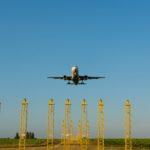 Vliegtuig land op luchthaven Zaventem