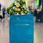 Foto van koffer op brussels airport